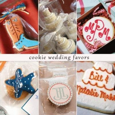 wedding favor cookies