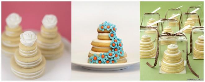 wedding sugar cookie cake favors