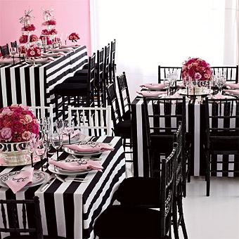 black white stripes party