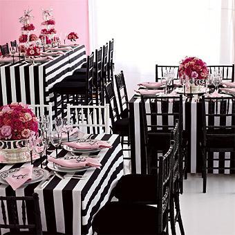black white stripes party
