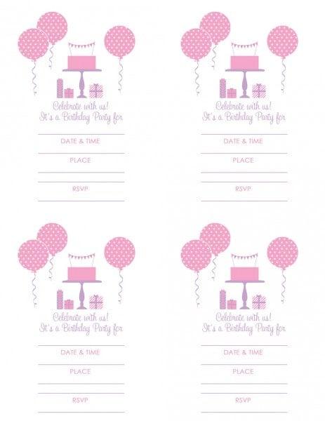 girl party invitation free printables