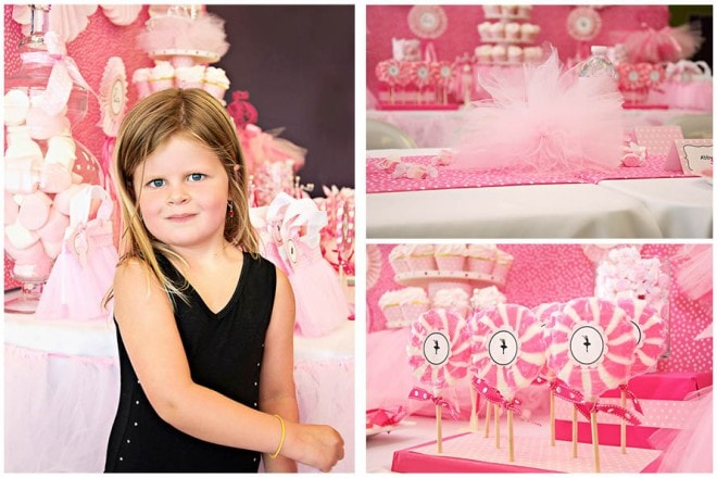 pink ballerina birthday party