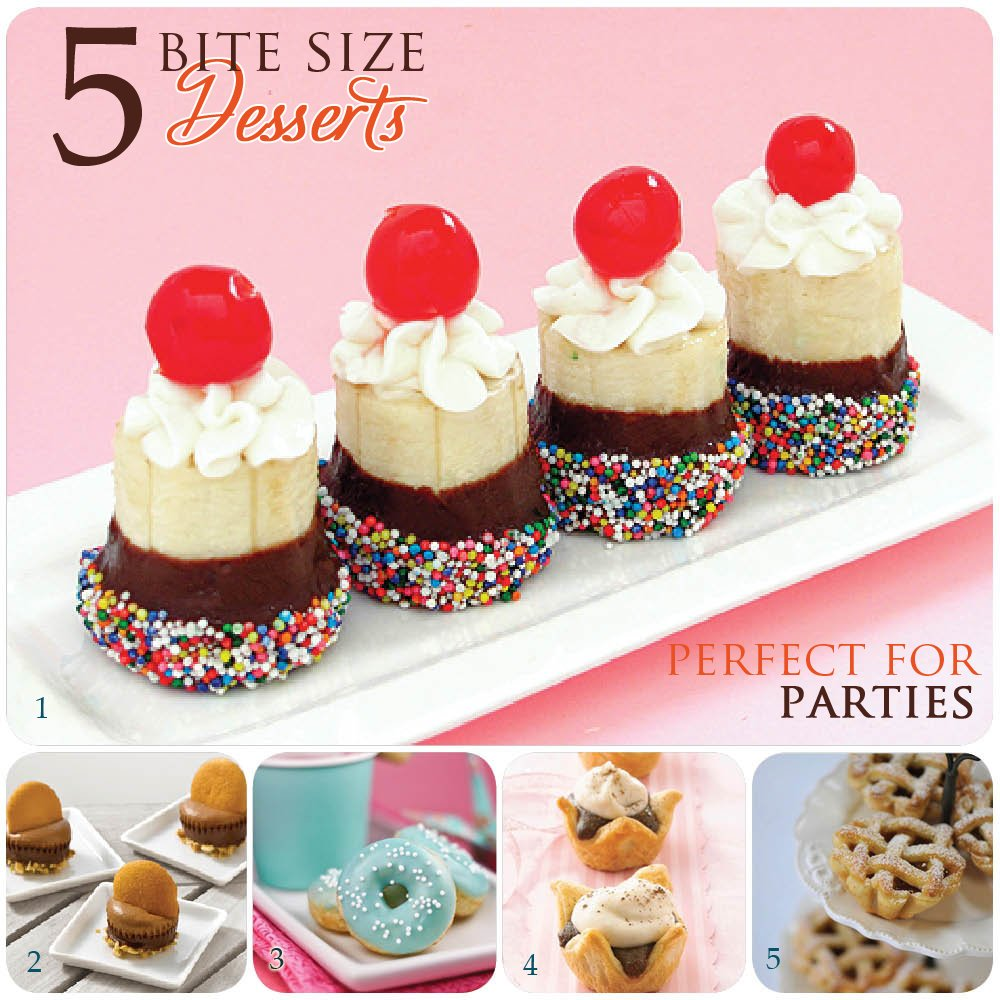 5 Bite Size Party Dessert Recipes