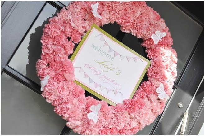 birthday pink wreath