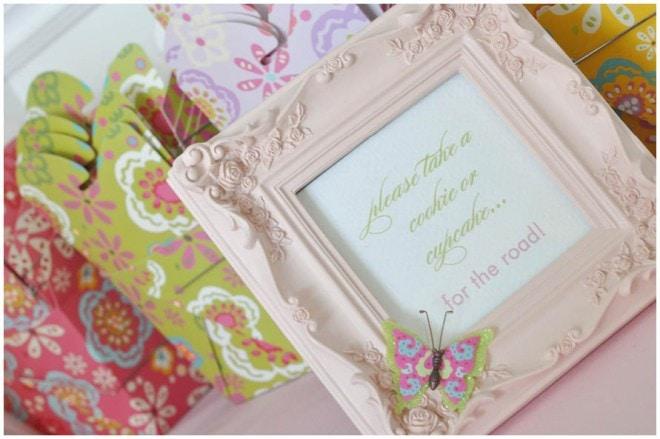 butterfly birthday favor card