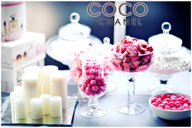coco chanel baby shower party