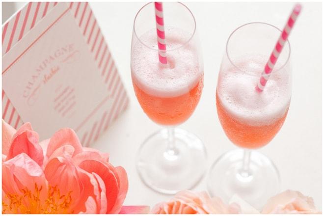 diy champagne bar bridal shower