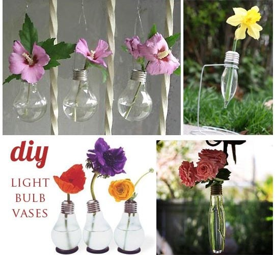 {DIY} Light Bulb Vases