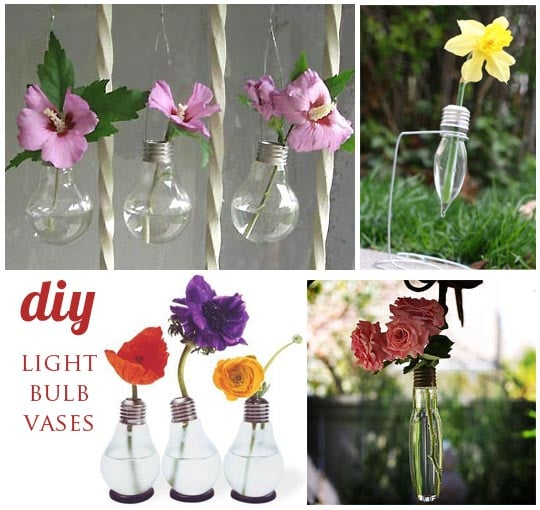 diy light bulb vases