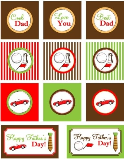 fathers day gift tags by bird crafts