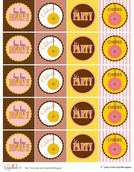 free girl's party printables