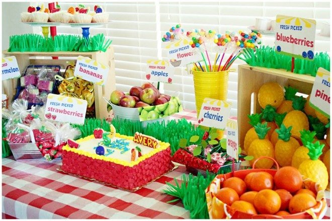 fruit stand birthday party 2