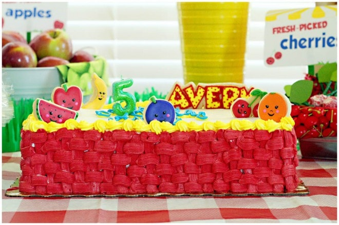 fruit stand birthday party 3