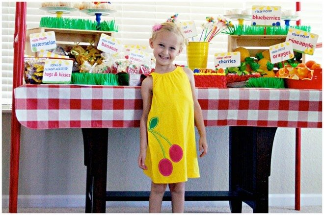 fruit stand birthday party 6