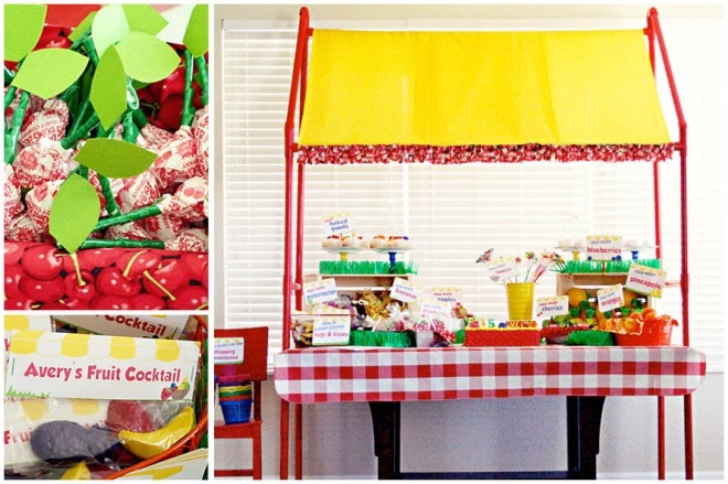 fruit stand birthday party