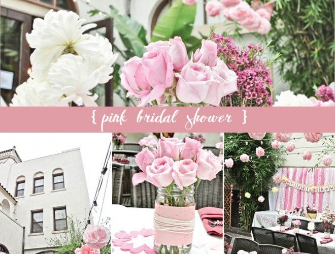 Pink + White Bridal Shower