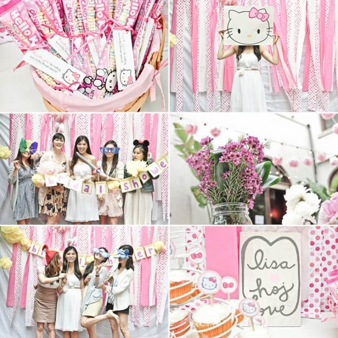 hello kitty pink bridal shower