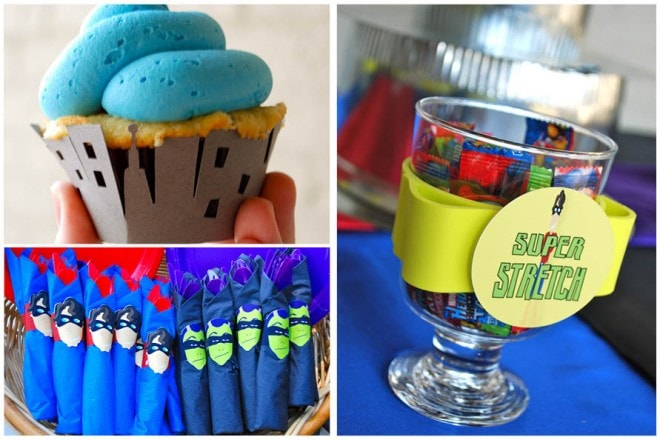 superhero boy's birthday party