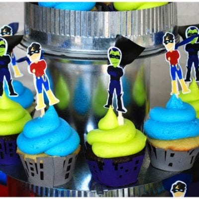 superhero cupcakes birthday party