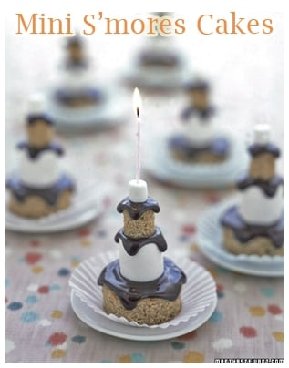 mini smores cakes