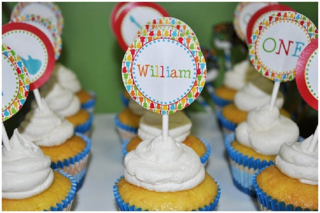 music themed cupcake toppers