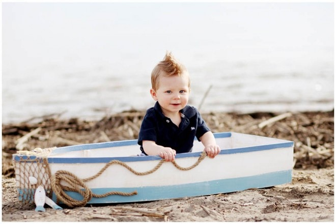 boy's birthday party nautical