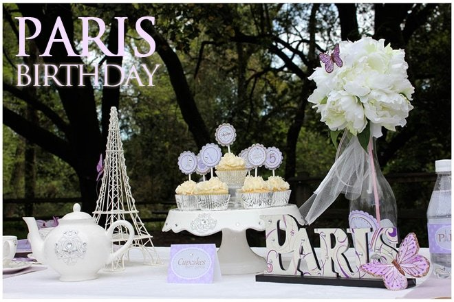 paris purple birthday party