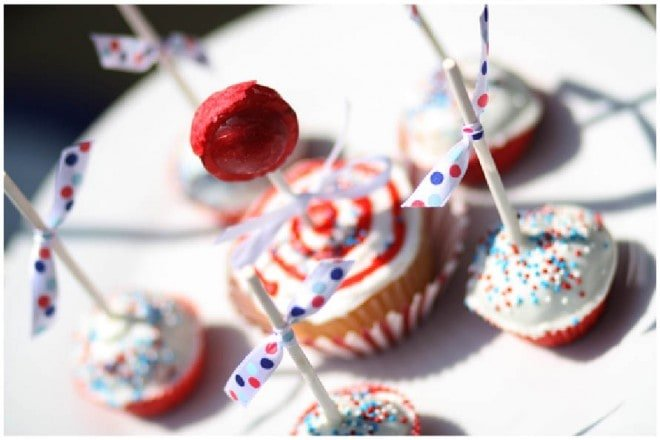 patriotic red white and blue cake pops cupcake
