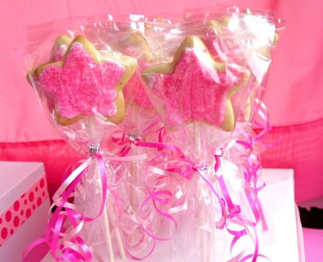 pink cookie pops