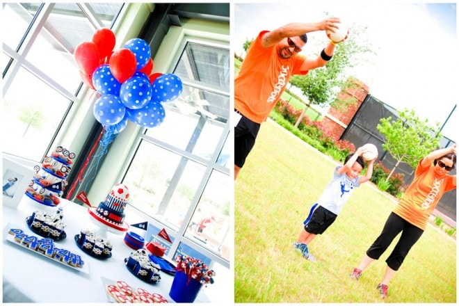 soccer birthday party table