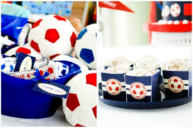 soccer birthday party favors