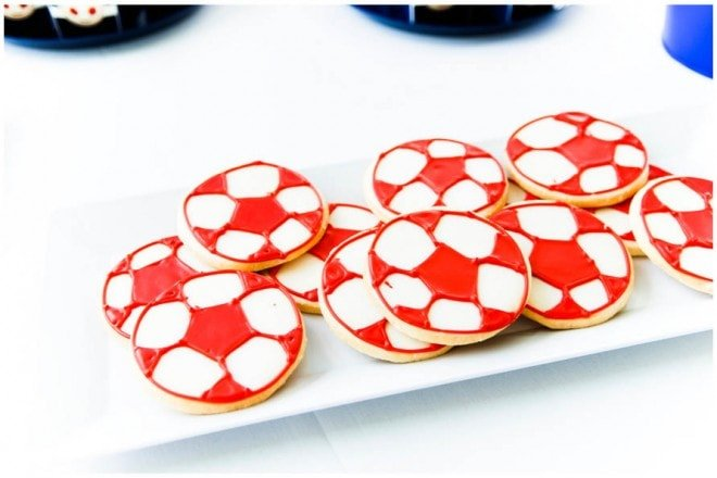 soccer birthday party cookies