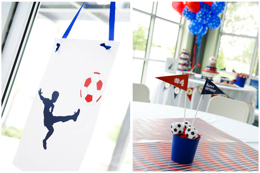 Soccer Themed 4th Birthday Party Pizzazzerie