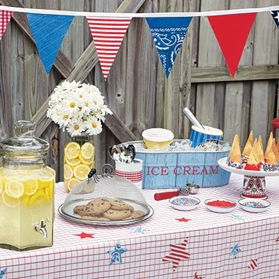 summer barbeque table