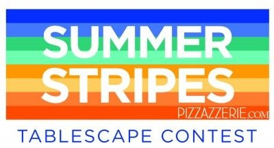 summer stripes tablescape contest