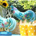 teal and sunflower breakfast party