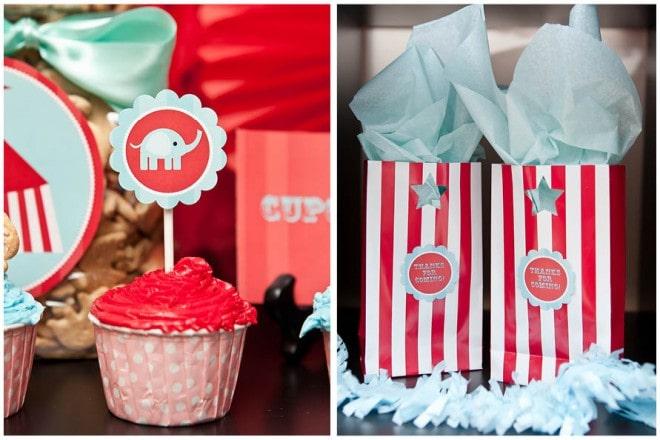 vintage circus cupcakes