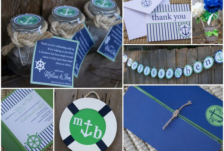 Blue + Green Nautical Wedding Shower