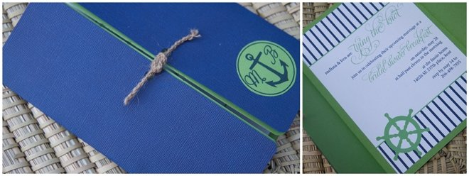 tying the knot nautical invitations
