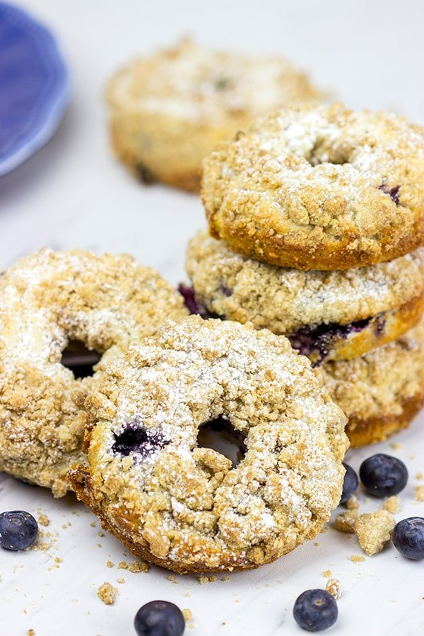 blueberry crumb donuts for a brunch party!