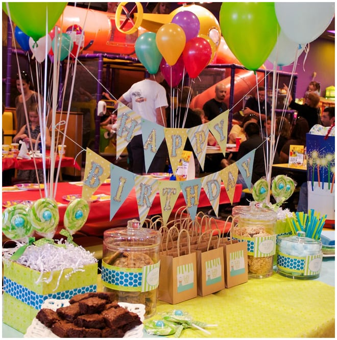 colorful boy's birthday party