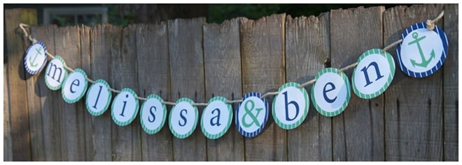 nautical wedding shower banner
