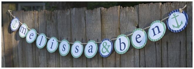nautical wedding shower banner