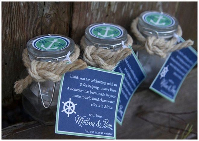 wedding shower nautical favors