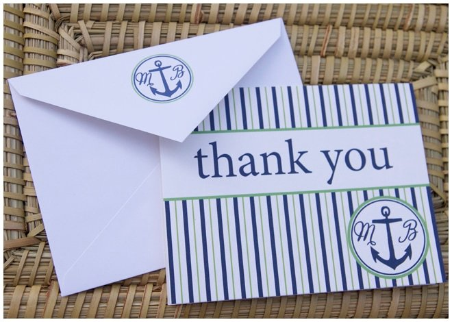 nautical thank you cards