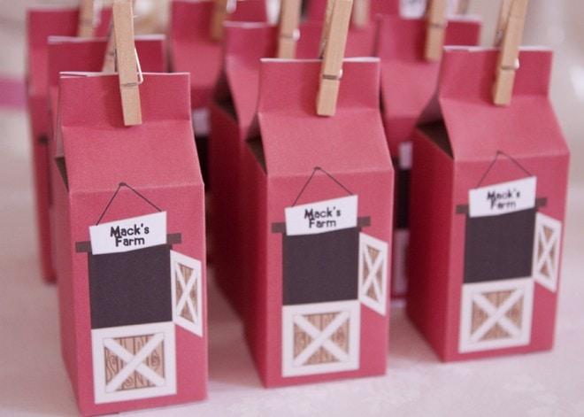 farm yard favor boxes party