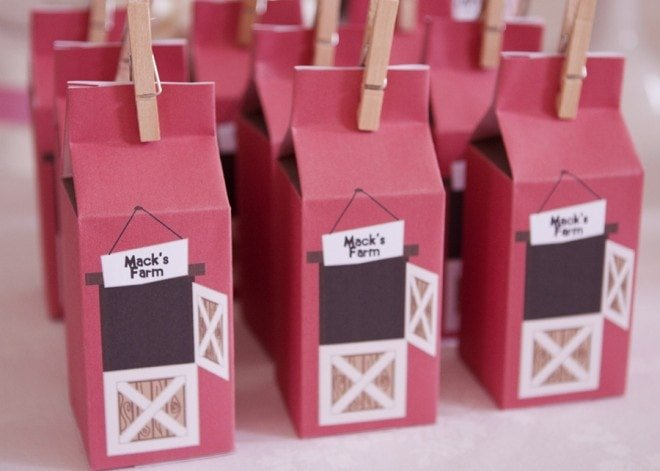 farm yard favor boxes party