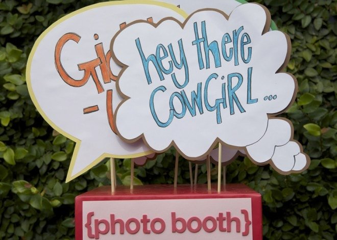 kid's photo booth at party