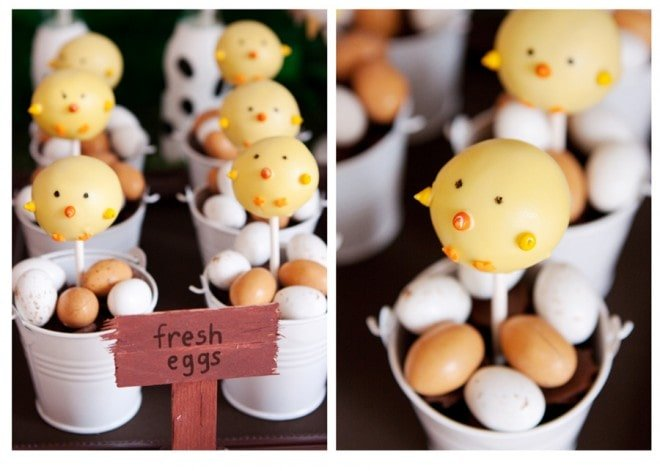 farm yard cake pops