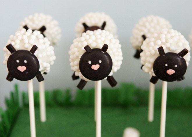 lamb sheep cake pops